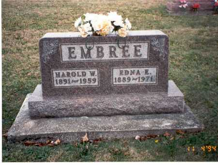 EMBREE, HAROLD W - Morgan County, Ohio | HAROLD W EMBREE - Ohio Gravestone Photos