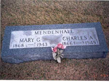 MENDENHALL, CHARLES A. - Morgan County, Ohio | CHARLES A. MENDENHALL - Ohio Gravestone Photos