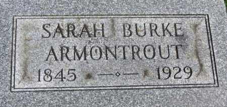 BURKE ARMONTROUT, SARAH - Morrow County, Ohio   SARAH BURKE ARMONTROUT - Ohio Gravestone Photos