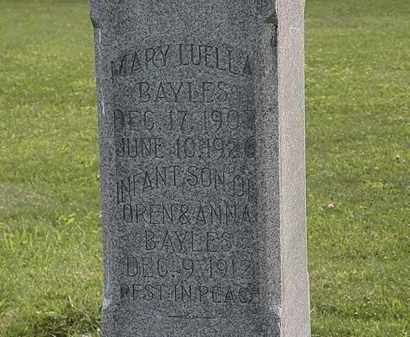 BAYLES, MARY LUELLA - Morrow County, Ohio | MARY LUELLA BAYLES - Ohio Gravestone Photos