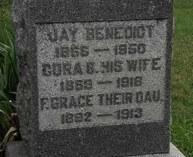 BENEDICT, CORA B. - Morrow County, Ohio | CORA B. BENEDICT - Ohio Gravestone Photos