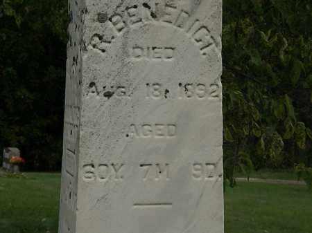 BENEDICT, R. - Morrow County, Ohio | R. BENEDICT - Ohio Gravestone Photos