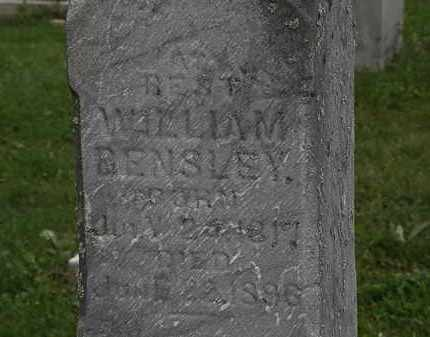 BENSLEY, WILLIAM - Morrow County, Ohio | WILLIAM BENSLEY - Ohio Gravestone Photos