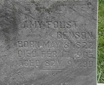 FOUST BENSON, AMY - Morrow County, Ohio | AMY FOUST BENSON - Ohio Gravestone Photos