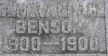 BENSON, GENEVA GRACE - Morrow County, Ohio   GENEVA GRACE BENSON - Ohio Gravestone Photos