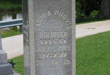 PURVIS BOLINGER, ELVIRA - Morrow County, Ohio   ELVIRA PURVIS BOLINGER - Ohio Gravestone Photos