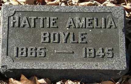BOYLE, HATTIE AMELIA - Morrow County, Ohio | HATTIE AMELIA BOYLE - Ohio Gravestone Photos