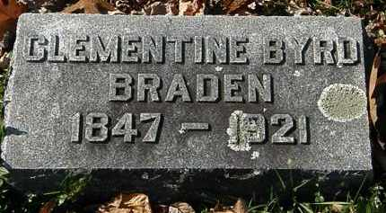 BYRD BRADEN, CLEMENTIE - Morrow County, Ohio | CLEMENTIE BYRD BRADEN - Ohio Gravestone Photos