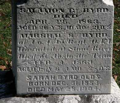 BYRD, SALAMON G. - Morrow County, Ohio | SALAMON G. BYRD - Ohio Gravestone Photos