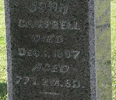 CAMPBELL, JOHN - Morrow County, Ohio | JOHN CAMPBELL - Ohio Gravestone Photos