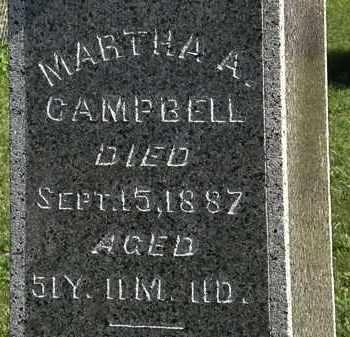 CAMPBELL, MARTHA A. - Morrow County, Ohio | MARTHA A. CAMPBELL - Ohio Gravestone Photos