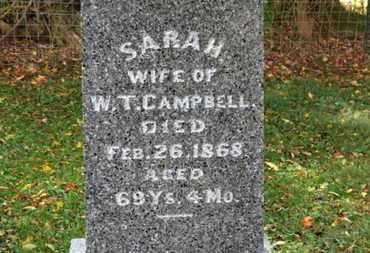 CAMPBELL, SARAH - Morrow County, Ohio | SARAH CAMPBELL - Ohio Gravestone Photos
