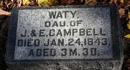 CAMPBELL, WATY - Morrow County, Ohio   WATY CAMPBELL - Ohio Gravestone Photos