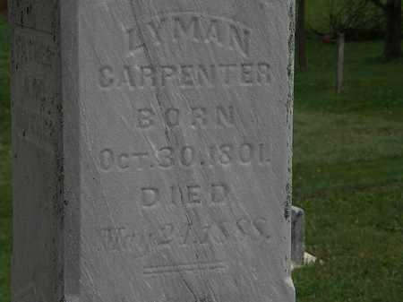 CARPENTER, LYMAN - Morrow County, Ohio | LYMAN CARPENTER - Ohio Gravestone Photos