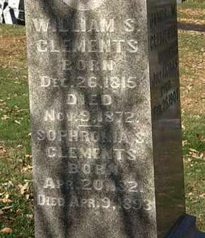 CLEMENTS, SOPHRONIA S. - Morrow County, Ohio | SOPHRONIA S. CLEMENTS - Ohio Gravestone Photos