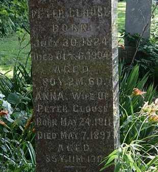 CLOUSE, PETER - Morrow County, Ohio | PETER CLOUSE - Ohio Gravestone Photos