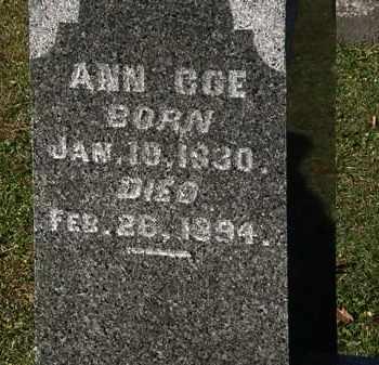COE, ANN - Morrow County, Ohio | ANN COE - Ohio Gravestone Photos