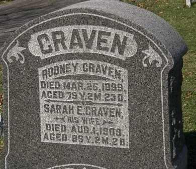 CRAVEN, SARAH E. - Morrow County, Ohio | SARAH E. CRAVEN - Ohio Gravestone Photos