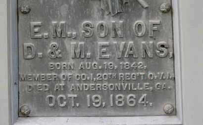 EVANS, M. - Morrow County, Ohio | M. EVANS - Ohio Gravestone Photos