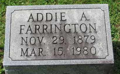 FARRINGTON, ADDIE A. - Morrow County, Ohio | ADDIE A. FARRINGTON - Ohio Gravestone Photos