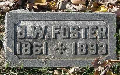 FOSTER, J.W. - Morrow County, Ohio   J.W. FOSTER - Ohio Gravestone Photos
