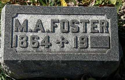 FOSTER, M.A. - Morrow County, Ohio | M.A. FOSTER - Ohio Gravestone Photos