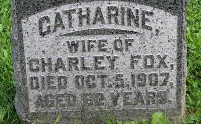 FOX, CATHARINE - Morrow County, Ohio | CATHARINE FOX - Ohio Gravestone Photos