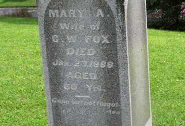 FOX, MARY A. - Morrow County, Ohio | MARY A. FOX - Ohio Gravestone Photos