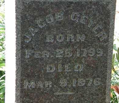 GEYER, JACOB - Morrow County, Ohio | JACOB GEYER - Ohio Gravestone Photos