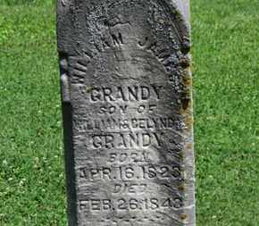GRANDY, WILLIAM JAMES - Morrow County, Ohio | WILLIAM JAMES GRANDY - Ohio Gravestone Photos