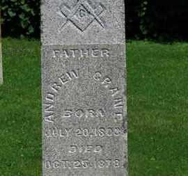 GRANT, ANDREW - Morrow County, Ohio   ANDREW GRANT - Ohio Gravestone Photos