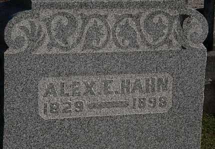 HAHN, ALEX E. - Morrow County, Ohio | ALEX E. HAHN - Ohio Gravestone Photos