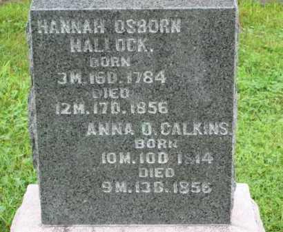 OSBORN HALLOCK, HANNAH - Morrow County, Ohio | HANNAH OSBORN HALLOCK - Ohio Gravestone Photos
