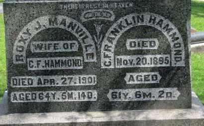 HAMMOND, C. FRANKLIN - Morrow County, Ohio   C. FRANKLIN HAMMOND - Ohio Gravestone Photos