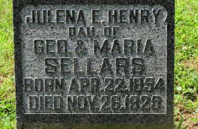 SELLARS HENRY, JULENA E. - Morrow County, Ohio | JULENA E. SELLARS HENRY - Ohio Gravestone Photos