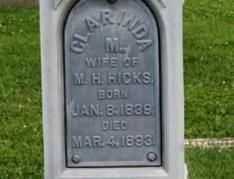 HICKS, CLARINDA - Morrow County, Ohio | CLARINDA HICKS - Ohio Gravestone Photos