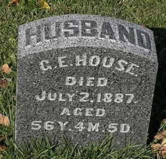 HOUSE, C.E. - Morrow County, Ohio | C.E. HOUSE - Ohio Gravestone Photos