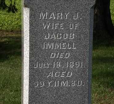 IMMELL, MARY J. - Morrow County, Ohio | MARY J. IMMELL - Ohio Gravestone Photos
