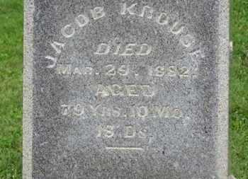 KROUSE, JACOB - Morrow County, Ohio   JACOB KROUSE - Ohio Gravestone Photos