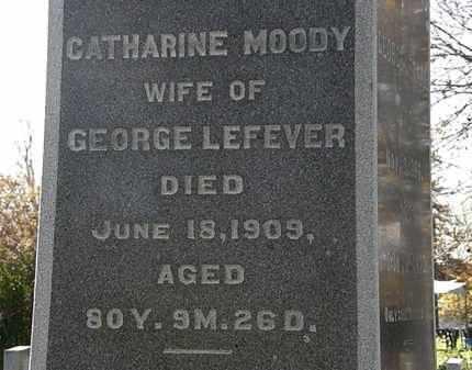 MOODY LEFEVER, CATHARINE - Morrow County, Ohio | CATHARINE MOODY LEFEVER - Ohio Gravestone Photos
