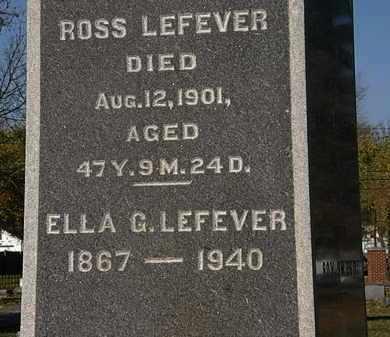 LEFEVER, ROSS - Morrow County, Ohio   ROSS LEFEVER - Ohio Gravestone Photos