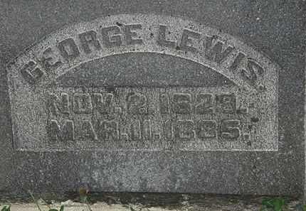 LEWIS, GEORGE - Morrow County, Ohio   GEORGE LEWIS - Ohio Gravestone Photos