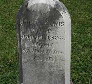 LEWIS, JULIA A. - Morrow County, Ohio   JULIA A. LEWIS - Ohio Gravestone Photos
