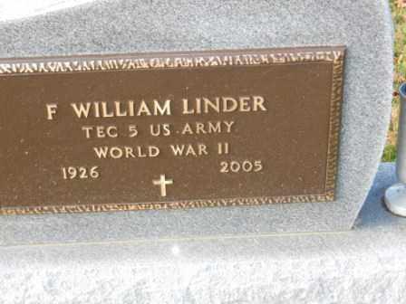 LINDER, F WILLIAM - Morrow County, Ohio | F WILLIAM LINDER - Ohio Gravestone Photos
