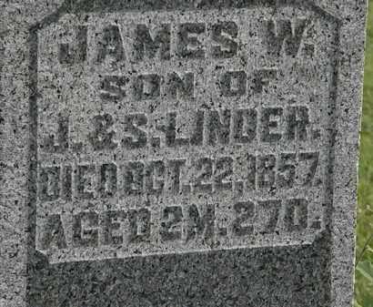 LINDER, JAMES W. - Morrow County, Ohio   JAMES W. LINDER - Ohio Gravestone Photos
