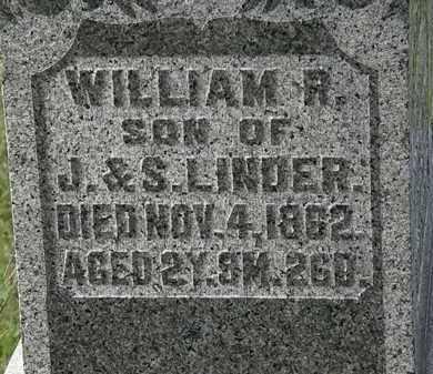 LINDER, WILLIAM R. - Morrow County, Ohio | WILLIAM R. LINDER - Ohio Gravestone Photos
