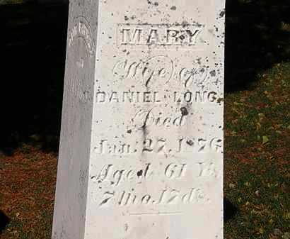 LONG, MARY - Morrow County, Ohio   MARY LONG - Ohio Gravestone Photos