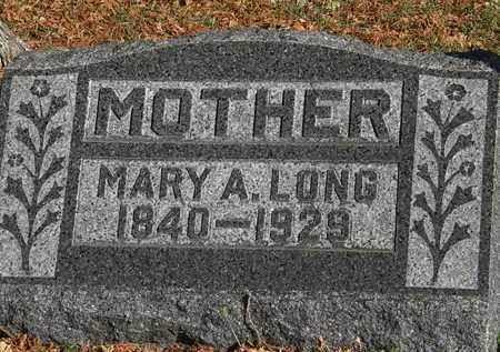 LONG, MARY A. - Morrow County, Ohio   MARY A. LONG - Ohio Gravestone Photos