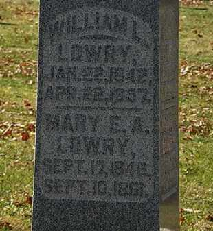 LOWRY, WILLIAM L. - Morrow County, Ohio | WILLIAM L. LOWRY - Ohio Gravestone Photos