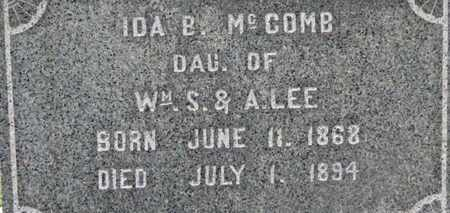 LEE MCCOMB, IDA B. - Morrow County, Ohio | IDA B. LEE MCCOMB - Ohio Gravestone Photos